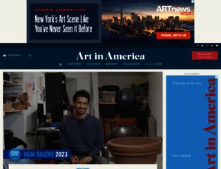 artinamericamagazine.com screenshot