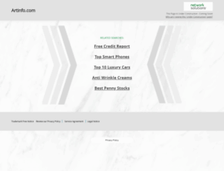 artinfo.com screenshot