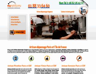 artisandepannagedurgence.com screenshot