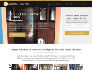 artisanelevators.com screenshot
