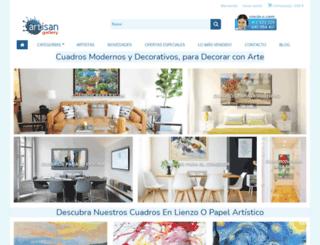 artisangallery.es screenshot