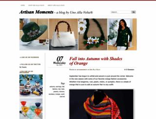 artisanmoments.wordpress.com screenshot