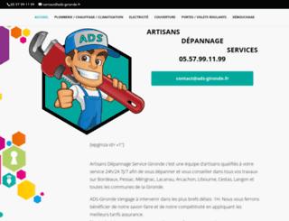 artisans-depannage-bordeaux.com screenshot