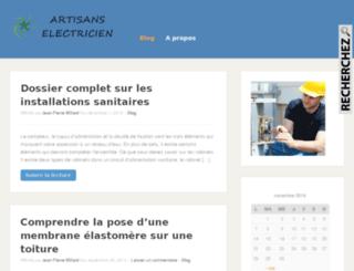 artisans-electricien.info screenshot