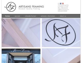 artisansframing.com screenshot