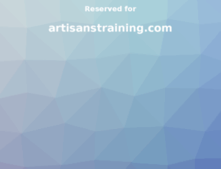 artisanstraining.com screenshot