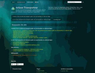 artisantransporteur.wordpress.com screenshot