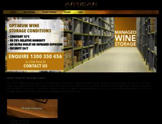 artisanwinestorage.com.au screenshot