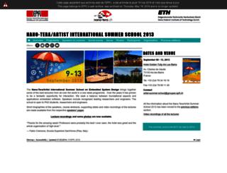 artist-summer-school.epfl.ch screenshot