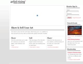artist.artistrising.com screenshot