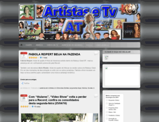 artistasetv.wordpress.com screenshot