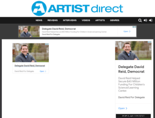 artistdirect.com screenshot