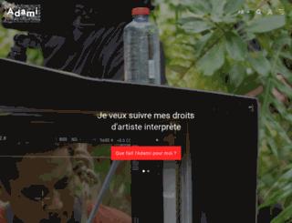 artistes.adami.fr screenshot