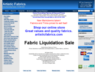 artisticfabrics.com screenshot