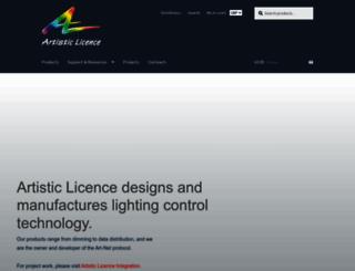 artisticlicence.com screenshot