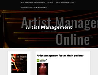 artistmanagementonline.com screenshot