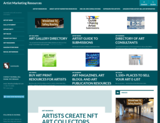 artistmarketingresources.com screenshot