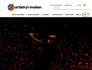 artistryinmotion.com screenshot