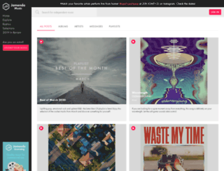 artistscorner.jamendo.com screenshot