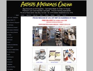 artistsmaterialsonline.co.uk screenshot