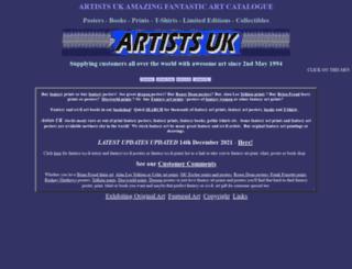 artistsuk.co.uk screenshot