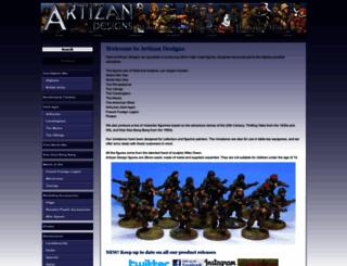 artizandesigns.com screenshot
