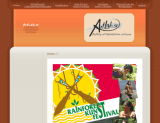 artlabsuriname.org screenshot