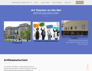 artmuseums.com screenshot