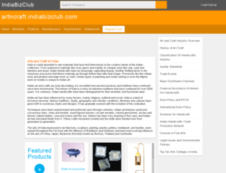 artncraft.indiabizclub.com screenshot