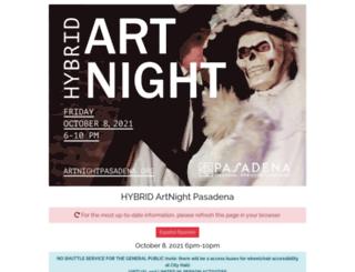 artnightpasadena.org screenshot