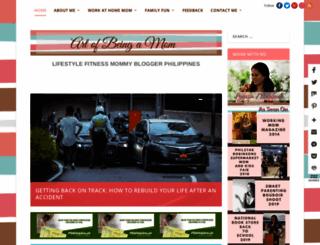 artofbeingamom.com screenshot