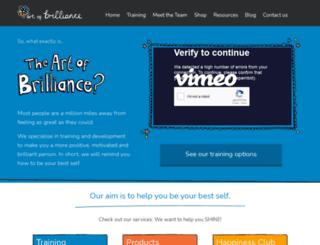 artofbrilliance.co.uk screenshot