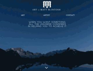artofmattmcintosh.com screenshot