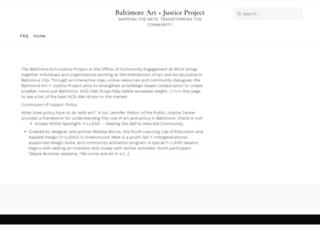 artplusjustice.org screenshot