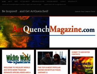 artquenchmagazine.com screenshot