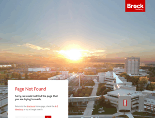 arts.brocku.ca screenshot