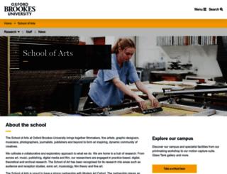 arts.brookes.ac.uk screenshot