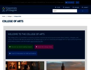 arts.gla.ac.uk screenshot