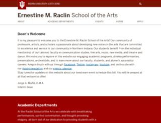 arts.iusb.edu screenshot