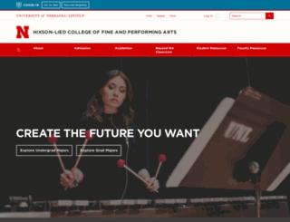 arts.unl.edu screenshot