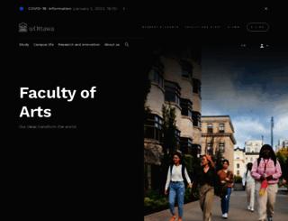arts.uottawa.ca screenshot