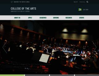 arts.usf.edu screenshot