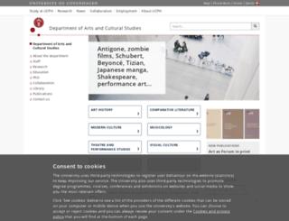 artsandculturalstudies.ku.dk screenshot