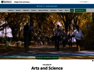 artsandscience.usask.ca screenshot