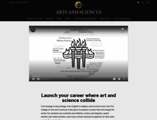 artsandsciences.fsu.edu screenshot
