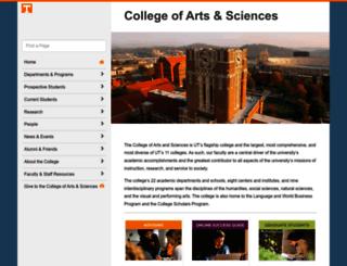 artsci.utk.edu screenshot