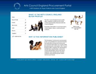 artscouncil.g2b.info screenshot