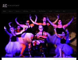 artsinclusioncompany.org screenshot