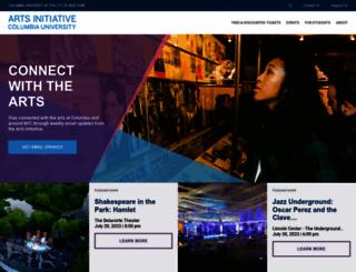 artsinitiative.columbia.edu screenshot