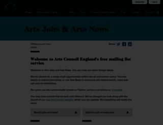 artsjobs.org.uk screenshot
